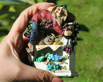 Dollhouse miniature elf's cabinet n.3 OOAK