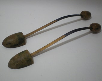 Vintage Metal and Wood Shoe Stretchers