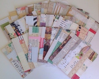 Handmade Paper Sheets, Handmade Paper, Quilted Paper, Scrapbook Paper, Journal Paper, Junk Journal Paper, Smash Book Paper