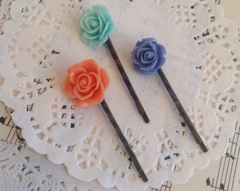 Planner Clips, Flower Bobby Pins, Hair Clips, Planner Accessories, Planner, Hair Accessories, Planner Accessories, Bobby Pins, 016