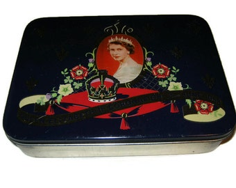 Queen Elizabeth II Coronation, June 2, 1953 Tin, British Royalty, Royal Family