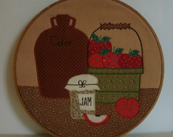 Vintage Country Stitched Wall Hanging
