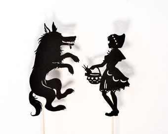 Little Red Riding Hood Shadow Puppets Set: Two Characters