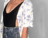 90's Ty Floral Short Sleeve Cardigan