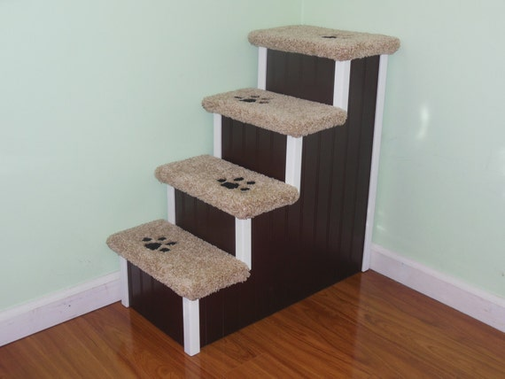 Dog Steps, Cat Steps, Very Tall 28 Inch High Designer Dog Stairs, All Wood  And Screw Construction Pet Steps. Made In The USA!