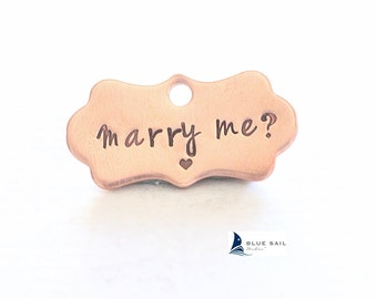 Marry Me Pet Tag, Pet Wedding Proposal, Will You Marry Me? Dog Collar Tag Marriage Proposal Marry Me Charm