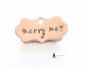 Marry Me Pet Tag, Pet Wedding Proposal, Will You Marry Me? Dog Collar Tag Marriage Proposal