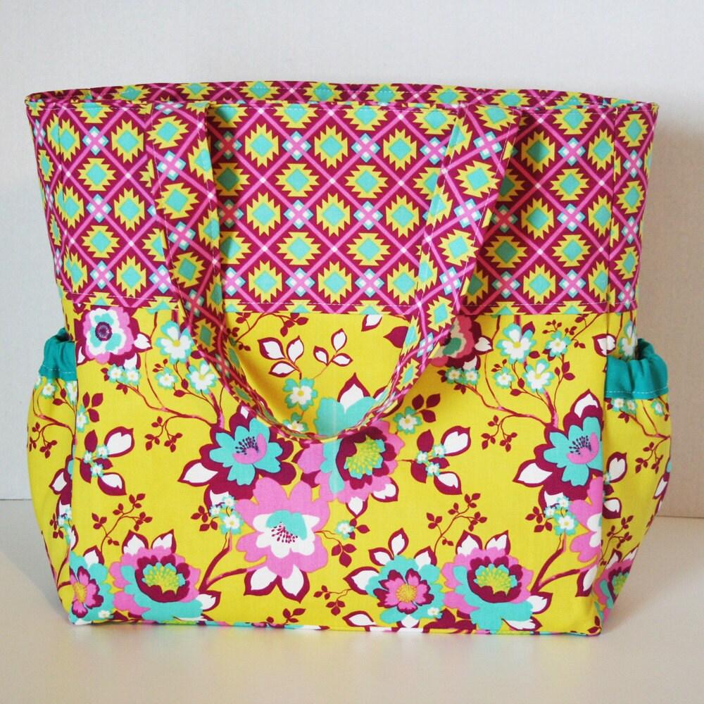 Handmade Diaper Bags : Handmade diaper bag baby knappy sack