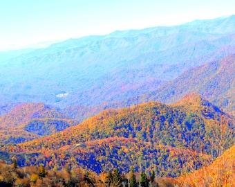 Ashville Area- Blue Ridge Mountains! Prints! Enhanced Photo.