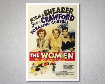 The Women It's All About Men Vintage Movie Poster - Poster Paper, Sticker or Canvas Print