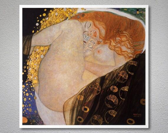 Danae By Gustav Klimt Poster Paper Sticker Or Canvas Print