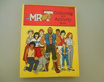Mr T Coloring and Activity Book, Vintage Coloring book, Collectible coloring book, Mr T of the A Team
