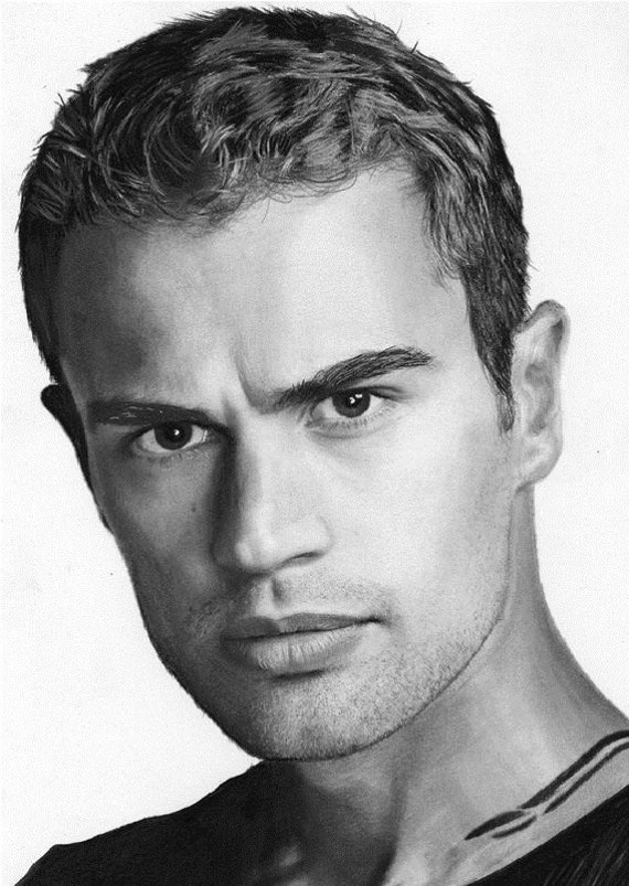Theo James Actor Portrait Sketch Limited Edition Print