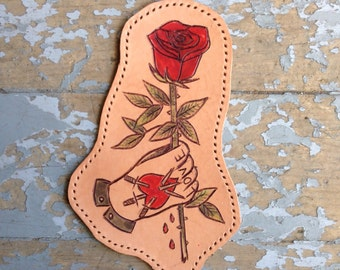 Love leather patch