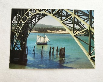 vintage newport, oregon coast postcard