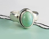 Turquoise Ring, Silver and Turquoise Ring,