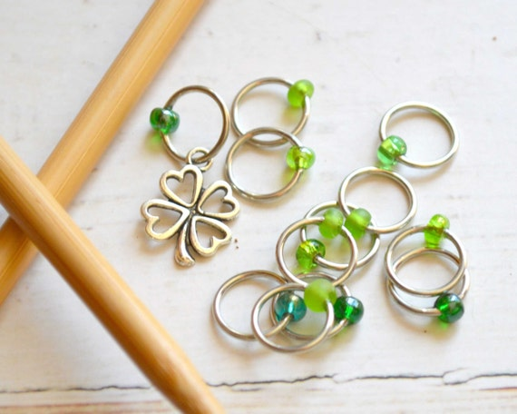 Symbol of Luck / Knitting Stitch Marker Set / Snag Free / Small Medium Large Sizes Available