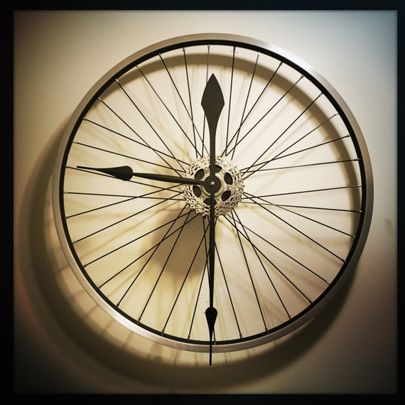 Bike Wheel Clock Large Wall Clock Unique Clock By