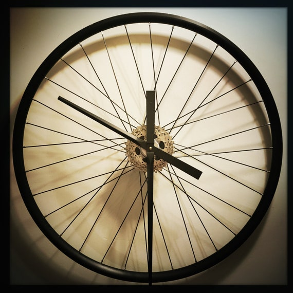 Bicycle Wheel Clock Large Wall Clock Steampunk by ...