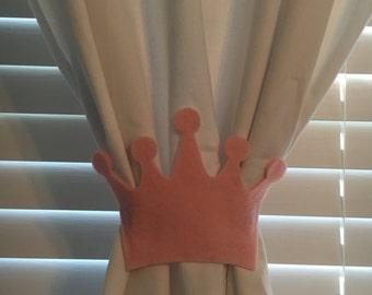 Princess Crown Curtain Tie-backs (Set of 2)