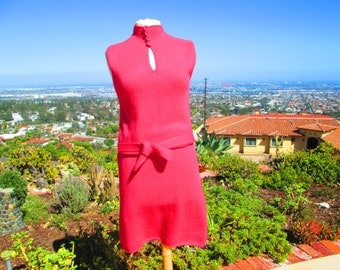 "Vintage MOD 1960's St. John Knit Dress-Electric Kool- Aid-Hot Pink ""Cherry Bomb"""