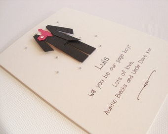 Personalised Handmade Will You Be My Usher/Best Man/Page Boy Wedding Card