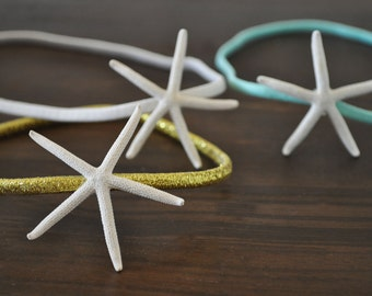 SALE - Starfish Headband- 3 - Beach Headband - Mermaid Hair - Boho Headband - Starfish Hair Accessories - Beach Weddings - Starfish Hair Pin