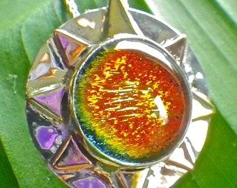 Dichroic Glass Sunset Pendant