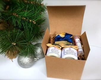 Bridesmaids Spa Gift Set, Natural Spa Bath Set, Soap Gift Set with Soap, Lotion, Sugar Scrub and Lip Balm
