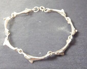 Sterling Silver Dolphin Bracelet B31
