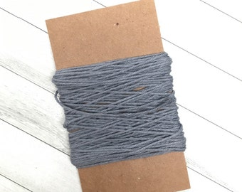 Charcoal Grey Twine, Gift Packaging, Ribbon, Bakers Twine, Gift Wrapping