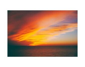 Light No. 5 Photography Print, Landscape Nature Water Photography, Florida Beach, Ocean SunsetFine Art