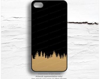 iPhone SE Case GOLD Metallic Case, Forest iPhone 5s Case, Trees iPhone 6 Case, Gold iPhone 5C Case, Gold iPhone 6 Case, iPhone 6S Case M17