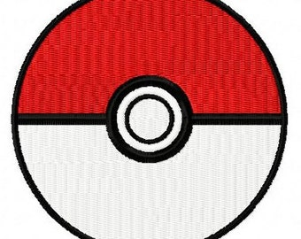 Pokemon Go pokeball machine embroidery design 2 inch instant download