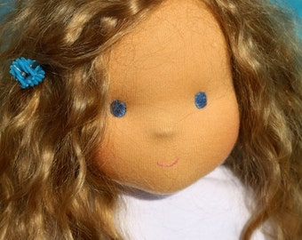 "Waldorf doll natural hair Alexandra 15-16""  inches -  gift for girls"
