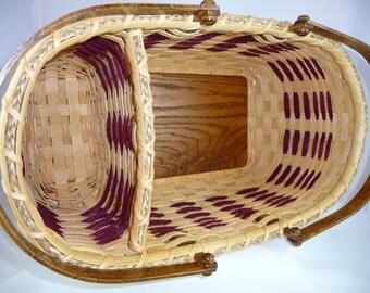 """BASKET PATTERN """"Shelley"""" Divided Market Basket"""
