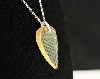 Glass Guitar Pick Necklace