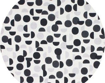 Shades in Charcoal CANVAS - Monochrome by Kokka - Fat Quarter, Half Yard or More