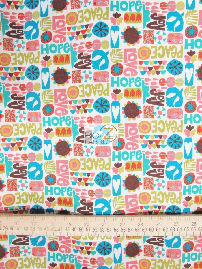 100 cotton fabric by windham fabrics nod to mod peace for Minecraft fabric by the yard