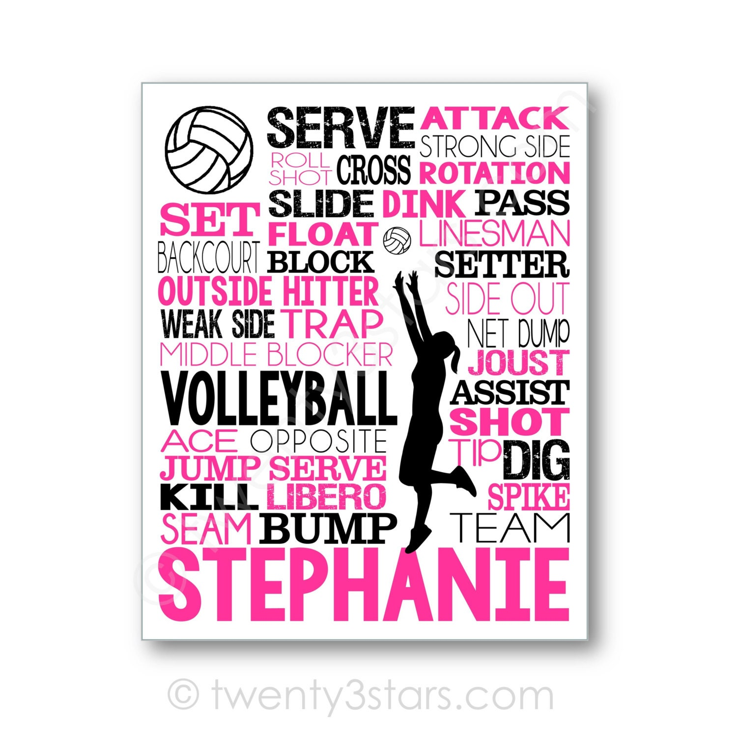 Volleyball Party Decorations Volleyball Team Etsy