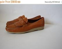 Sale Famolare Oxfords / Vintage Famolare / 1980's Famolare / Vintage Leather Oxfords / Leather Loafers 7