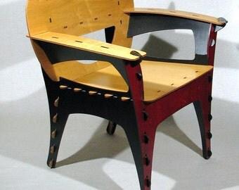 David Kawwcki, PUZZLE chair - laser cut plywwod