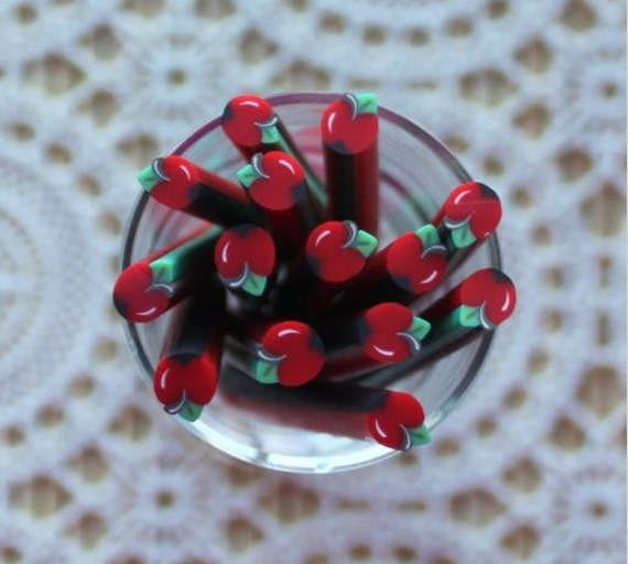 1 Piece. 5mm Apple Polymer Clay Cane. Craft Supplies. Jewellery Supplies