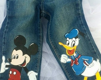 Boys Custom Handpainted You Pick Your Design Jeans