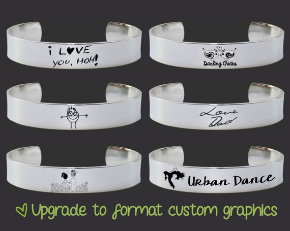 Bracelet Upgrade: Purchase only to add 1 Piece of Custom Art, Handwriting or Logo to a Korena Loves Bracelet Order