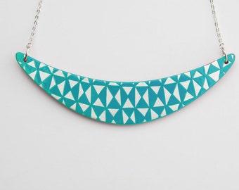 BOOMERANG Necklace Blue