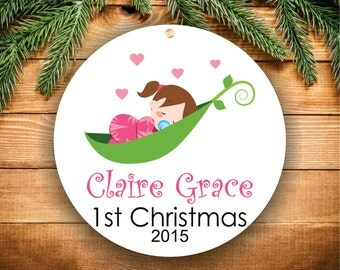 Baby's First Christmas Ornament Baby Girl Ornament Baby Shower Gift Personalized Christmas Ornament Baby Ornament Christmas Ornament