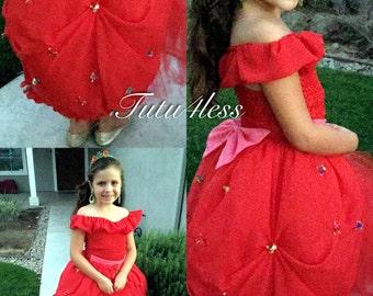 Princess Elena tutu dress, Costume, party, princess, red dress, Birthday, Tutu4less