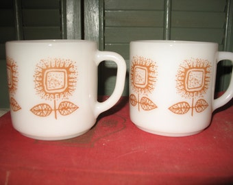 Federal sunflower cups. Set of 2 mugs. Coffee cups.