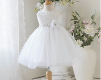 Lace Baby Dress Baby girl dress Toddler dress Christening baby dress baptism dress first birthday dress baby shower gift lace baby gown